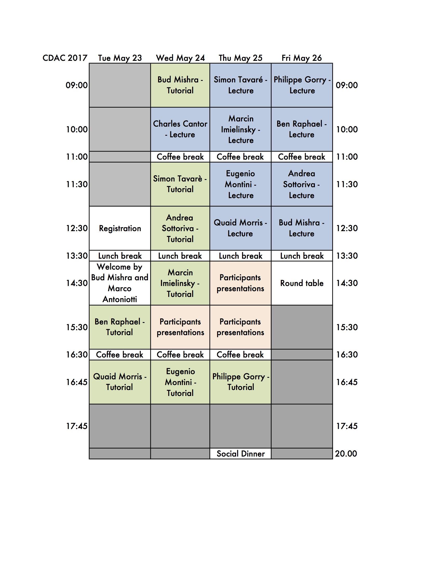 2017 CDAC Schedule 1